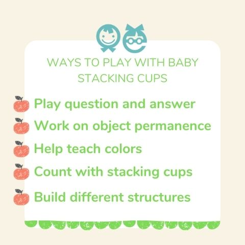Stacking cups activity for toddlers