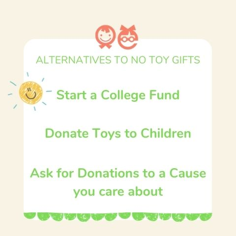 alternatives to no toy gifts
