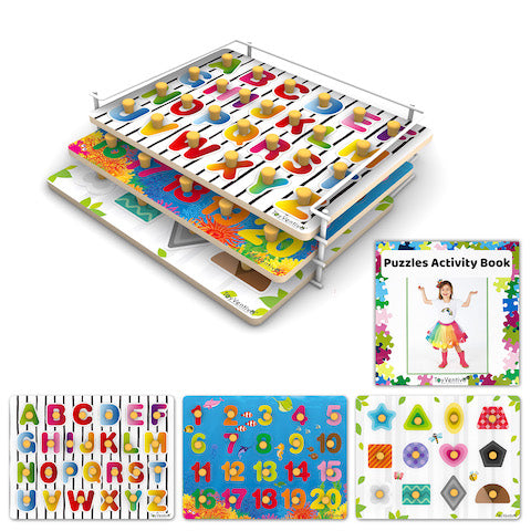 wooden puzzles for toddlers shapes