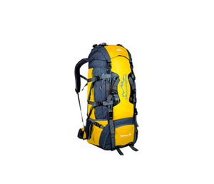 80L Tactical Camping Hiking Backpack (Yellow)