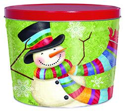 2 Gallon Scarf Snowman Father's Day Tins vendor-unknown