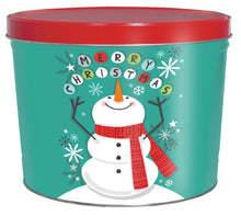 Load image into Gallery viewer, 2 Gallon Cheery Snowman Father's Day Tins vendor-unknown