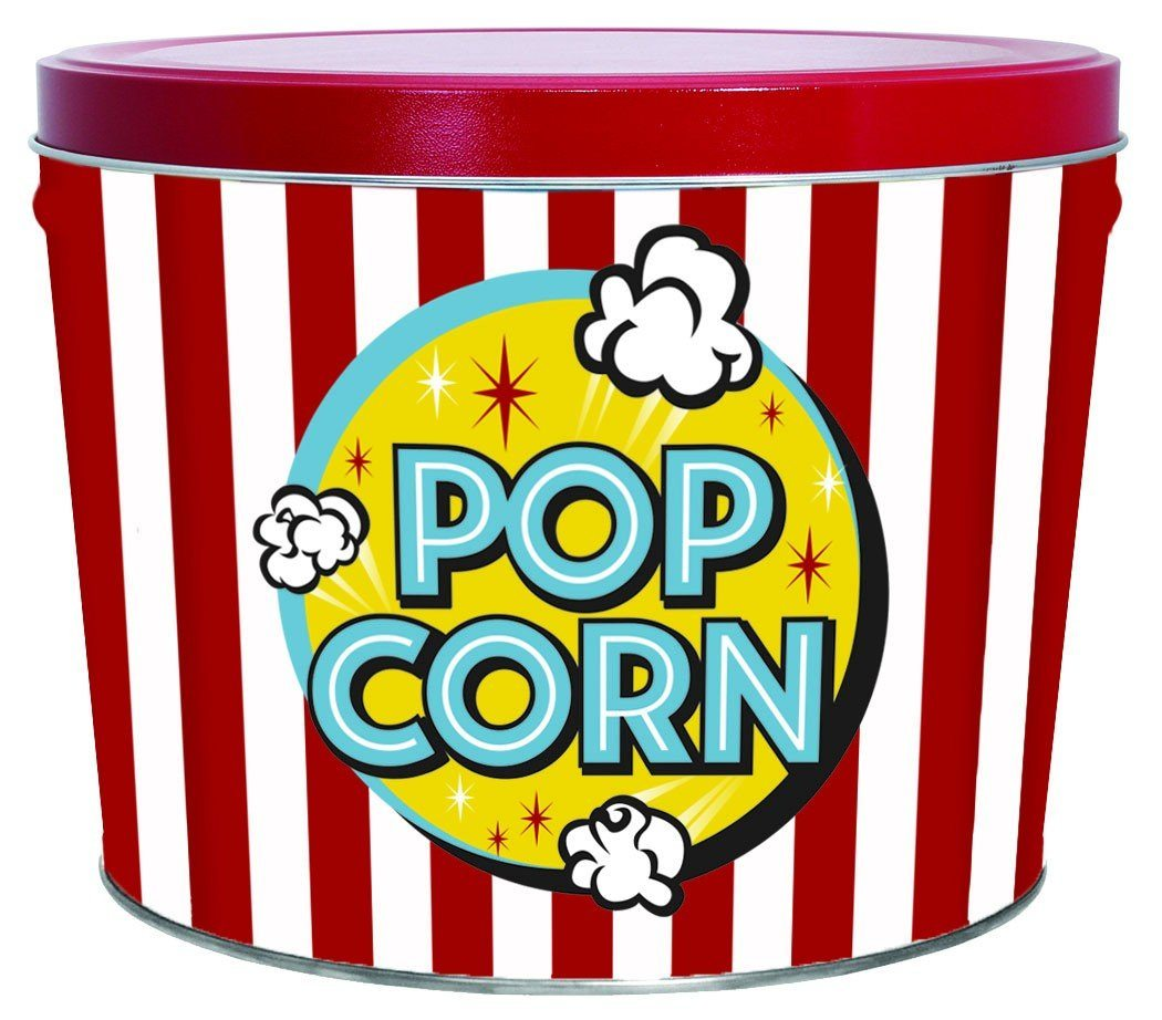 Two Gallon Popcorn Tin-FREE SHIPPING Thank You vendor-unknown
