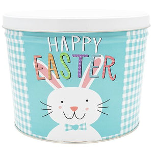 2 Gallon Happy Easter-Free Shipping Signature Tins Pops Corn