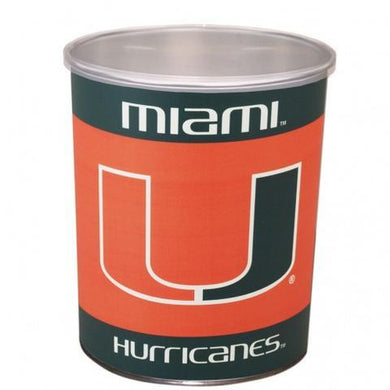 Miami Hurricanes One Gallon Sports Popcorn Tin vendor-unknown