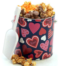 Load image into Gallery viewer, 1 Gallon Hearts Tin Valentine's Day Tins Pops Corn Default Title