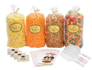 All In One Gourmet Popcorn Buffet. Pops Bulk Popcorn Bags. Made fresh to order! ?✔ Pops Corn