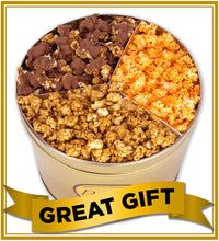 Load image into Gallery viewer, 2 Gallon Signature Gold Signature Tins Pops Corn