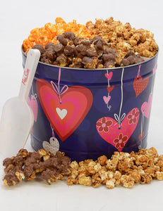 Two Gallon Hearts Tin-FREE SHIPPING Valentine's Day Tins Pops Corn Default Title