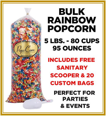 Gourmet Rainbow Popcorn 🌈🌈 Pops Bulk Popcorn Bags. Made fresh to order! ?✔ Pops Corn