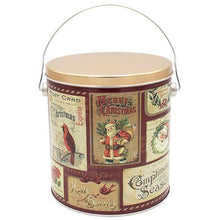 Load image into Gallery viewer, 1 Gallon Vintage Postcards Holiday Tin Pops Corn