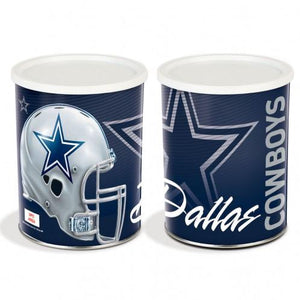 Dallas Cowboys One Gallon Sports Popcorn Tin Pops Corn