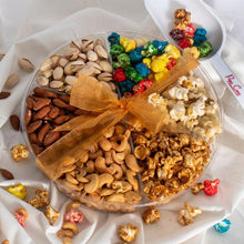 Load image into Gallery viewer, Popcorn/Nuts Variety Gift Basket. Signature Tins Pops Corn