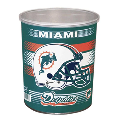 Miami Dolphins One Gallon Sports Popcorn Tin vendor-unknown Default Title