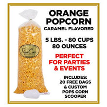 Load image into Gallery viewer, Orange Popcorn 🍊 Pops Bulk Popcorn Bags. Made fresh to order! ?✔ vendor-unknown