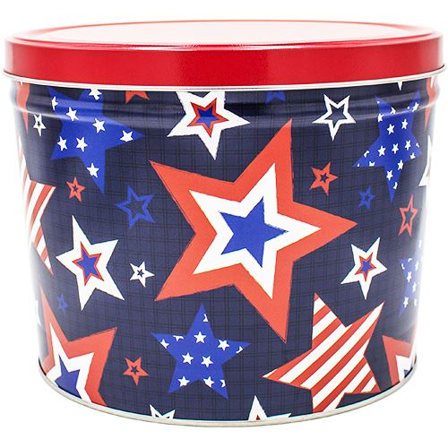 2 Gallon Americana Valentine's Day Tins Pops Corn