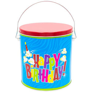 1 Gallon Happy Birthday Valentine's Day Tins Pops Corn