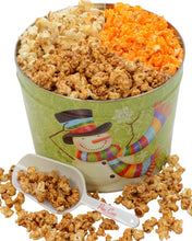 Load image into Gallery viewer, 2 Gallon Scarf Snowman Gourmet Popcorn Tin Father's Day Tins vendor-unknown