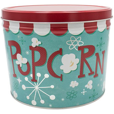 2 Gallon Popcorn Blast-Free Shipping Signature Tins Pops Corn
