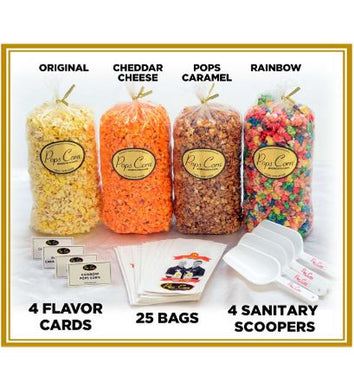 All In One Gourmet Popcorn Buffet Pops Bulk Popcorn Bags. Made fresh to order! ?✔ Pops Corn