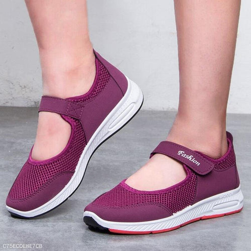 Plain  Flat  Round Toe  Casual Sneakers