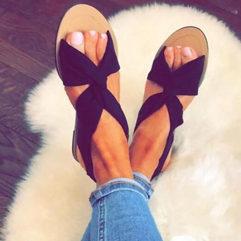 Fashion Straps Large Size Flat Sandals