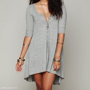 Elegant High And Low Irregular casual mini dress