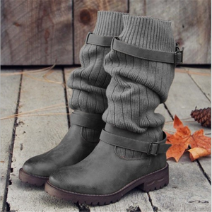 Fashion New Flat Bottom Plush Snow Boots