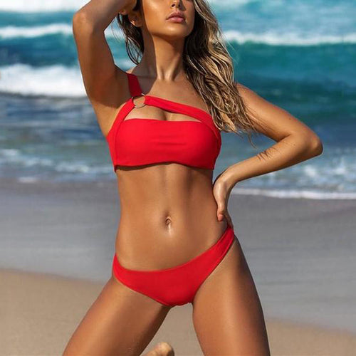 Vacation Sandbeach   Sexy Swimsuits With Steel Ring Bikini