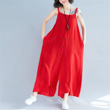 Load image into Gallery viewer, Summer Plain Casual Wide Leg Jumpsuit