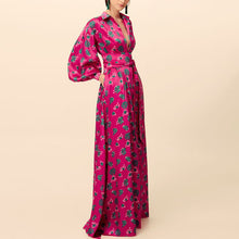 Load image into Gallery viewer, Casual Sexy Deep V   Neck Frenulum Slim Floral Print Maxi Dresses