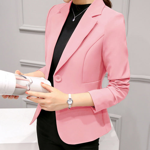 Casual Slim Show Thin   Pure Color  Little Business Suit Coat