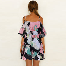 Load image into Gallery viewer, Sexy V-Neck Print Sling Dress