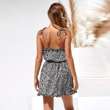Load image into Gallery viewer, Sexy Print Backless Sling Dress