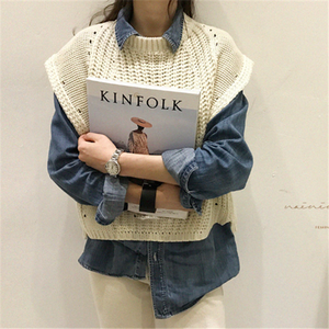 Butterfly Sleeve Knit Vest Sleeveless Sweater Vest