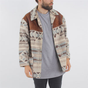 Men's Lapel Print Jacket