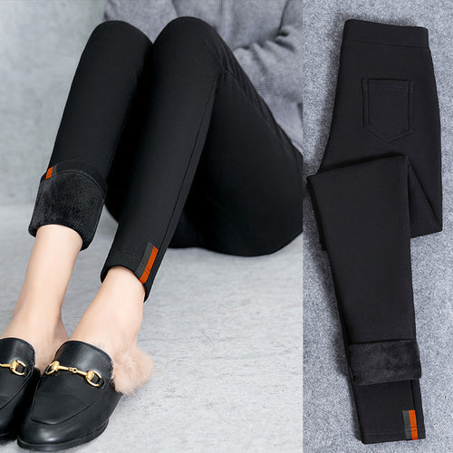 Fashion Slim Warm Cotton Stretch Tight Pants