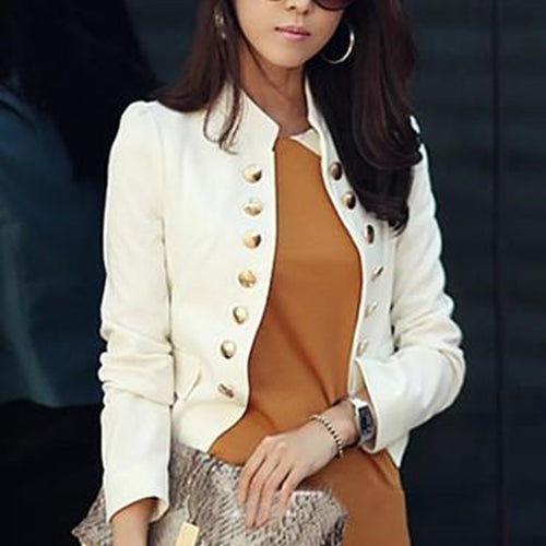 Casual Long Sleeve Pure Colour Slim Small Suit
