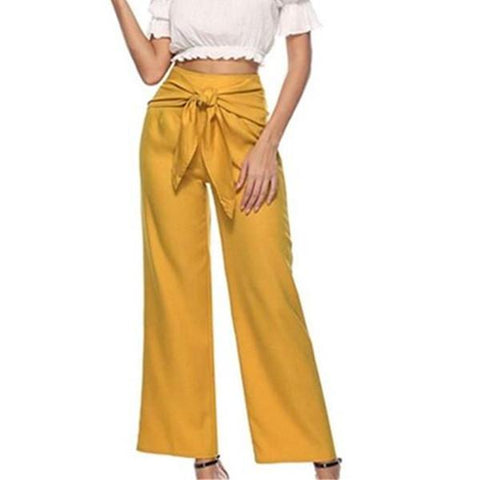 Fashion Strappy Casual Wide-Leg Pants