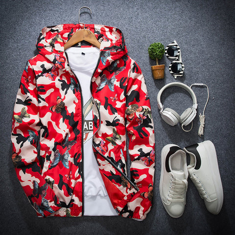 Fashion Sports Casual Camouflage Printed Jackets