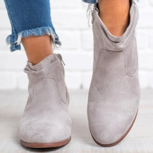 Fashion Pointed   Flat Ankle Boots