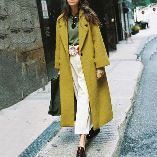 Winter Fashion Lapel Long Coat
