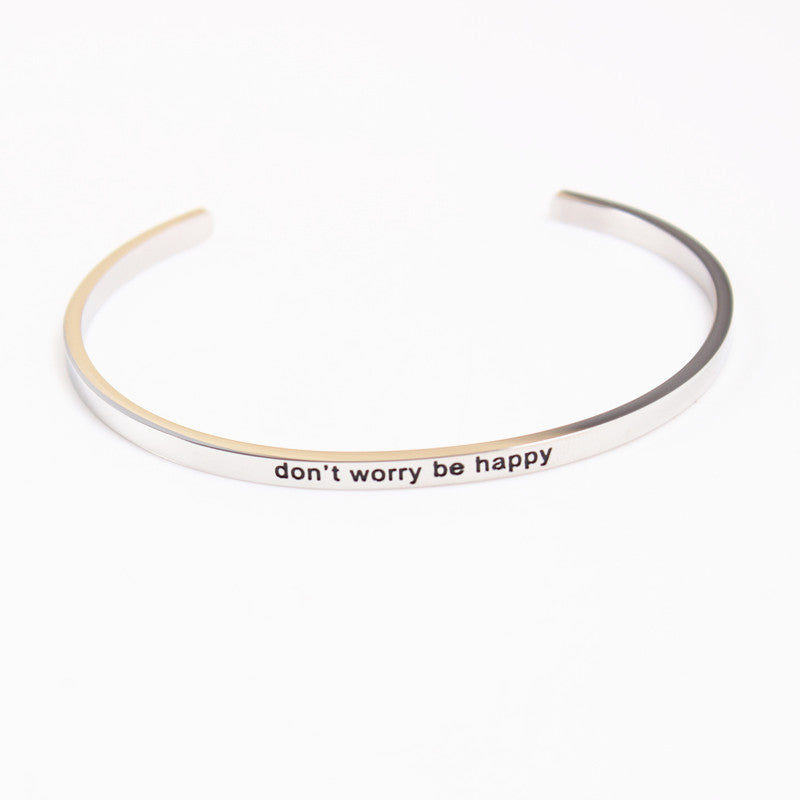 Don't Worry Be Happy Bracelet