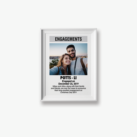 Custom ODT Classified Print - Weddings & Engagements