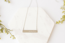 "Load image into Gallery viewer, ""Simplify"" Silver Bar Necklace"