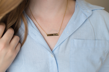 "Load image into Gallery viewer, ""Be You"" Gold Bar Necklace"