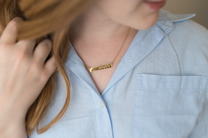 """Simplify"" Gold Bar Necklace"