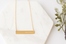 "Load image into Gallery viewer, ""Mama"" Gold Bar Necklace"