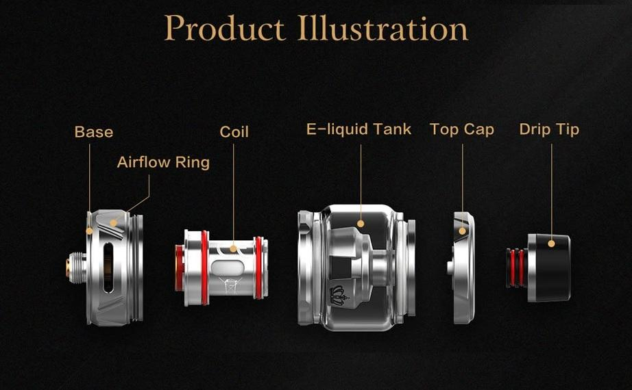 Uwell Crown 4 Tank - Specs on Crown 4 Tank