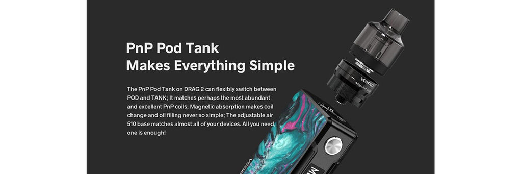 Voopoo Drag 2 Mod Refresh Kit - PnP Pod Tank Atomizer - 4.5ml